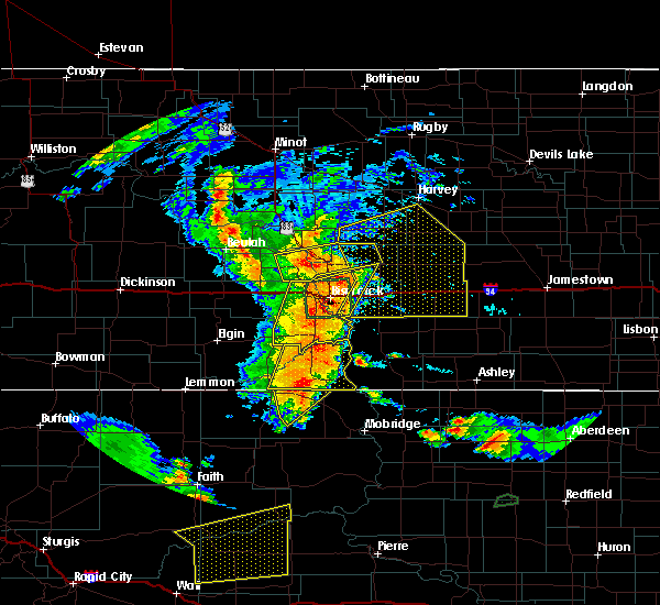 Radar Image for Severe Thunderstorms near Wing, ND at 7/4/2018 12:20 AM CDT