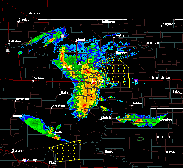 Radar Image for Severe Thunderstorms near Wing, ND at 7/4/2018 12:26 AM CDT