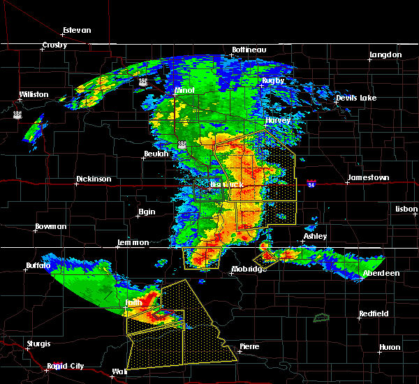 Radar Image for Severe Thunderstorms near Wing, ND at 7/4/2018 12:54 AM CDT