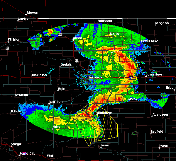 Radar Image for Severe Thunderstorms near Wishek, ND at 7/4/2018 1:48 AM CDT