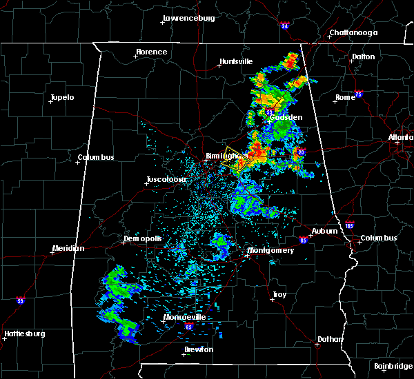 Radar Image for Severe Thunderstorms near Pell City, AL at 7/4/2018 2:52 AM CDT
