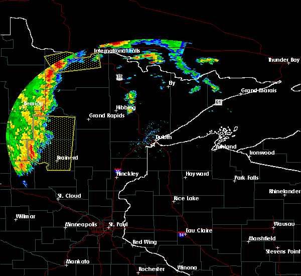 Radar Image for Severe Thunderstorms near Pequot Lakes, MN at 7/4/2018 7:10 AM CDT