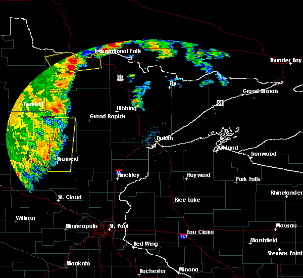Radar Image for Severe Thunderstorms near Pequot Lakes, MN at 7/4/2018 7:28 AM CDT