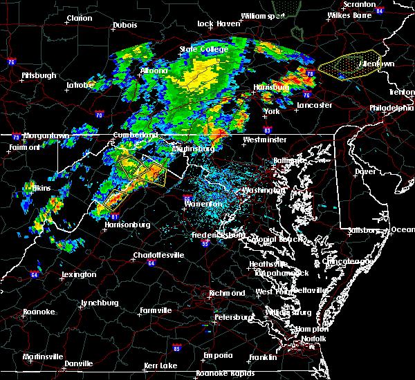 Radar Image for Severe Thunderstorms near Basye, VA at 7/4/2018 4:23 PM EDT