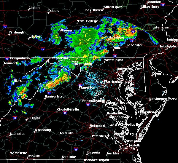 Radar Image for Severe Thunderstorms near Basye, VA at 7/4/2018 4:54 PM EDT