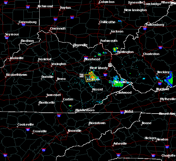 Radar Image for Severe Thunderstorms near Jackson, KY at 7/4/2018 8:48 PM EDT