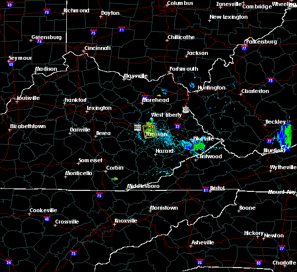 Radar Image for Severe Thunderstorms near Jackson, KY at 7/4/2018 9:07 PM EDT