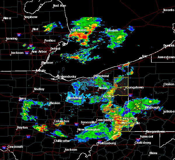 Radar Image for Severe Thunderstorms near Vienna Center, OH at 7/5/2018 6:25 PM EDT