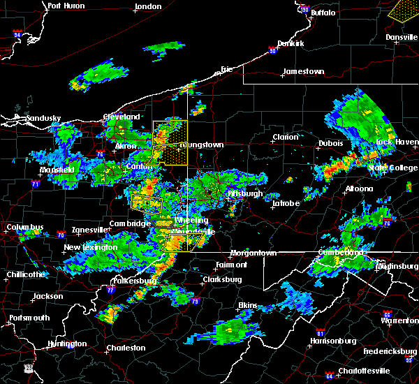 Radar Image for Severe Thunderstorms near New Freeport, PA at 7/5/2018 6:39 PM EDT