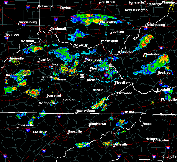 Radar Image for Severe Thunderstorms near Jeffersonville, KY at 7/5/2018 6:55 PM EDT