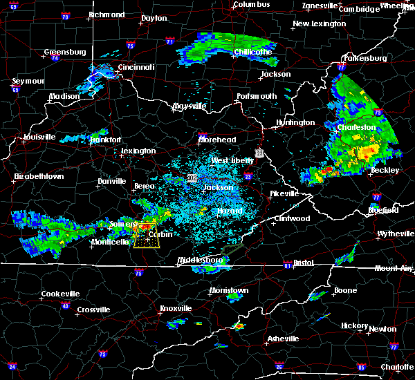 Radar Image for Severe Thunderstorms near London, KY at 7/5/2018 9:19 PM EDT