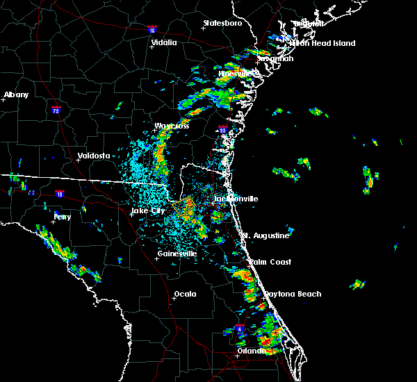 Radar Image for Severe Thunderstorms near Jacksonville, FL at 7/6/2018 1:25 PM EDT