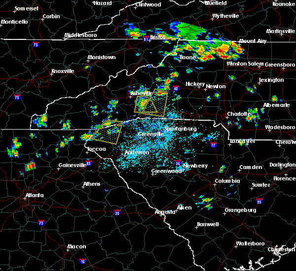 Radar Image for Severe Thunderstorms near Six Mile, SC at 7/6/2018 1:25 PM EDT