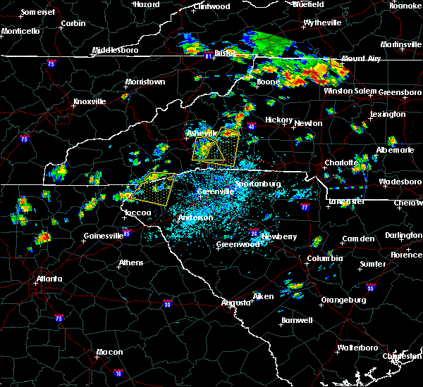 Radar Image for Severe Thunderstorms near Swannanoa, NC at 7/6/2018 1:32 PM EDT