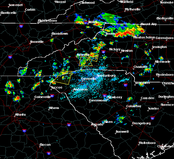 Radar Image for Severe Thunderstorms near Swannanoa, NC at 7/6/2018 1:44 PM EDT