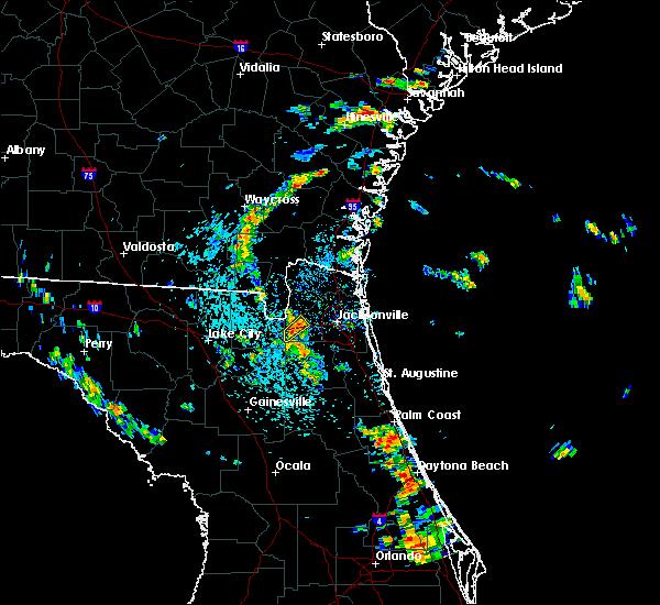 Radar Image for Severe Thunderstorms near Jacksonville, FL at 7/6/2018 1:46 PM EDT