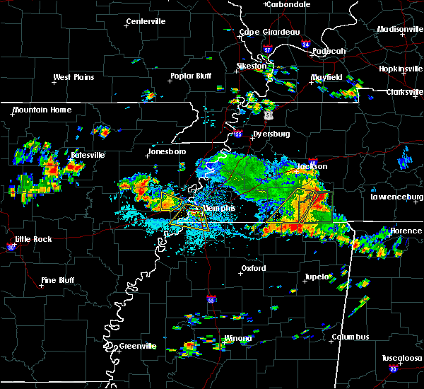 Radar Image for Severe Thunderstorms near West Memphis, AR at 7/6/2018 2:26 PM CDT