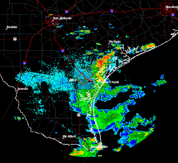 Radar Image for Severe Thunderstorms near Corpus Christi, TX at 7/6/2018 2:25 PM CDT
