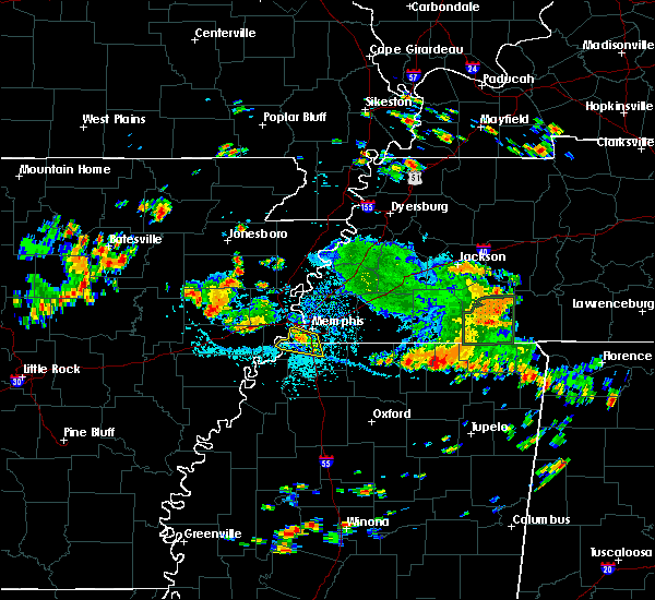 Radar Image for Severe Thunderstorms near West Memphis, AR at 7/6/2018 2:40 PM CDT