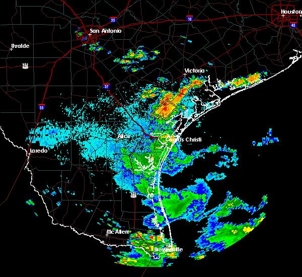 Radar Image for Severe Thunderstorms near Refugio, TX at 7/6/2018 2:41 PM CDT