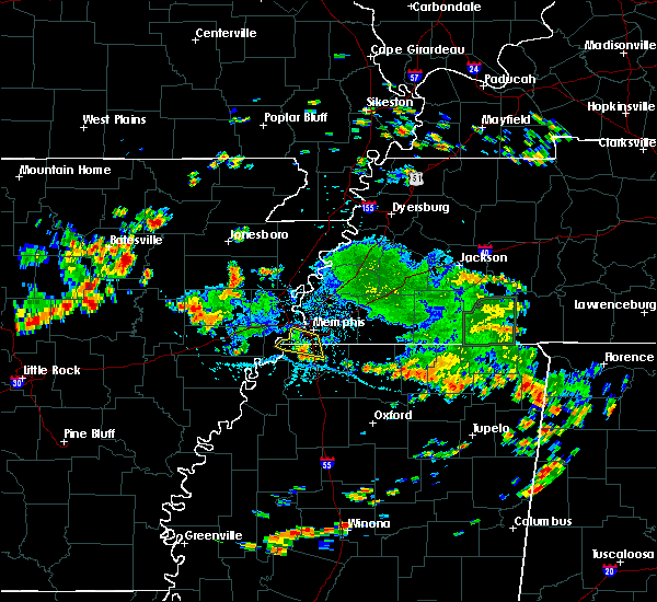 Radar Image for Severe Thunderstorms near West Memphis, AR at 7/6/2018 2:56 PM CDT