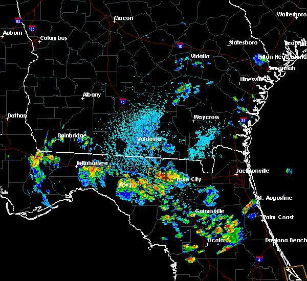 Radar Image for Severe Thunderstorms near Live Oak, FL at 7/6/2018 4:05 PM EDT