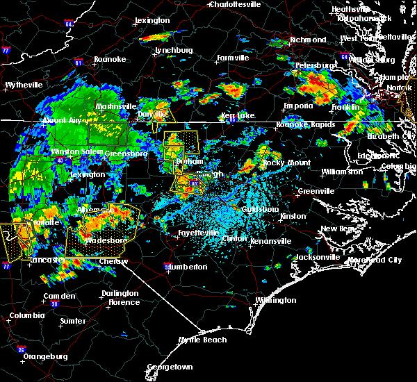 Radar Image for Severe Thunderstorms near Cluster Springs, VA at 7/6/2018 5:05 PM EDT