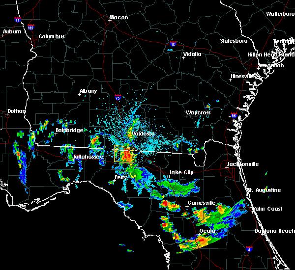 Radar Image for Severe Thunderstorms near Madison, FL at 7/6/2018 5:29 PM EDT