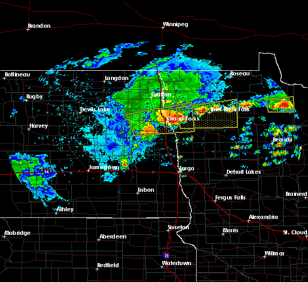 Radar Image for Severe Thunderstorms near Holt, MN at 7/8/2018 5:44 AM CDT