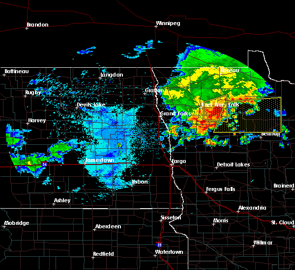 Radar Image for Severe Thunderstorms near Redby, MN at 7/8/2018 6:36 AM CDT