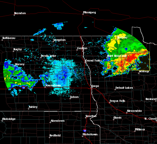 Radar Image for Severe Thunderstorms near Redby, MN at 7/8/2018 7:08 AM CDT