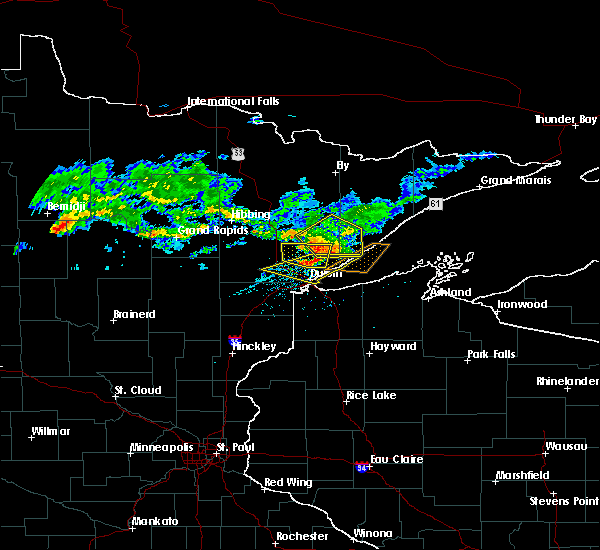 Radar Image for Severe Thunderstorms near Duluth, MN at 7/8/2018 5:31 PM CDT