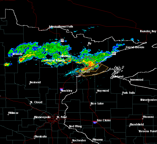 Radar Image for Severe Thunderstorms near Duluth, MN at 7/8/2018 5:46 PM CDT