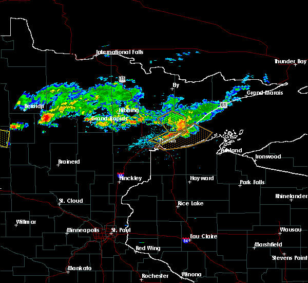 Radar Image for Severe Thunderstorms near Duluth, MN at 7/8/2018 5:55 PM CDT