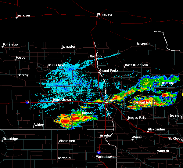 Radar Image for Severe Thunderstorms near Pine Point, MN at 7/8/2018 6:25 PM CDT