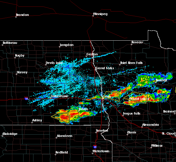 Radar Image for Severe Thunderstorms near Pine Point, MN at 7/8/2018 6:29 PM CDT