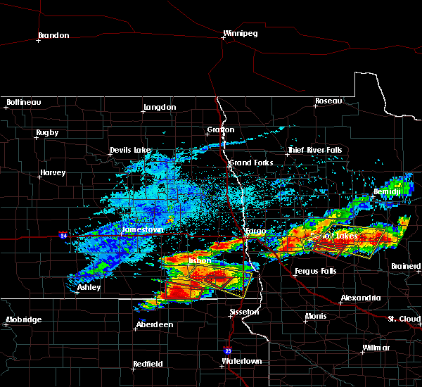Radar Image for Severe Thunderstorms near Perham, MN at 7/8/2018 7:05 PM CDT