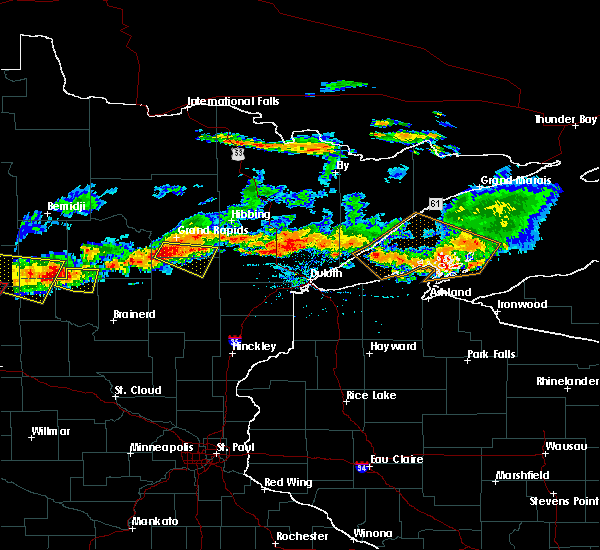 Radar Image for Severe Thunderstorms near Chickamaw Beach, MN at 7/8/2018 7:11 PM CDT