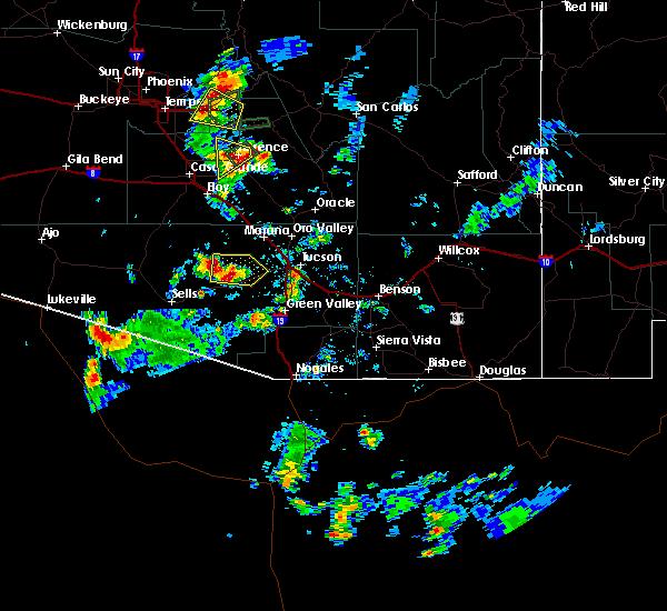 Radar Image for Severe Thunderstorms near Tucson Estates, AZ at 7/9/2018 3:35 PM MST