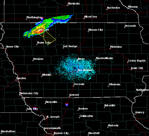 Radar Image for Severe Thunderstorms near Ayrshire, IA at 7/10/2018 11:11 AM CDT