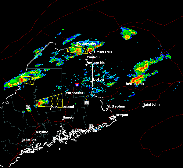 Radar Image for Severe Thunderstorms near Milo, ME at 7/10/2018 1:36 PM EDT