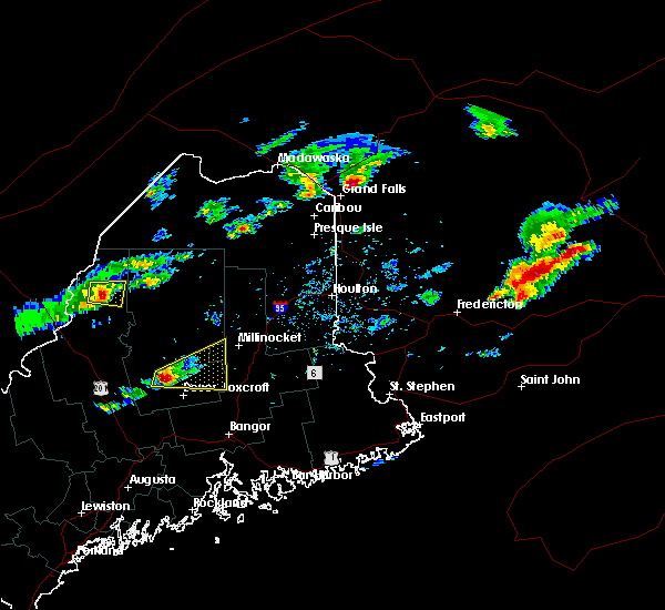 Radar Image for Severe Thunderstorms near Milo, ME at 7/10/2018 1:57 PM EDT