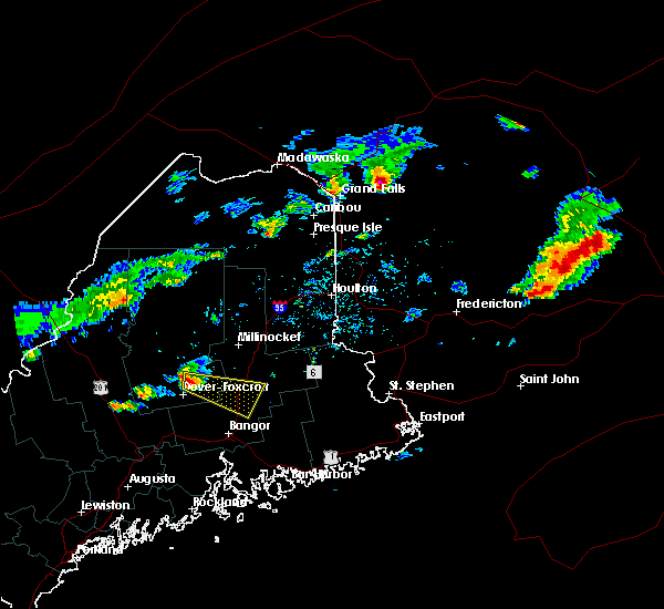 Radar Image for Severe Thunderstorms near Milo, ME at 7/10/2018 2:18 PM EDT