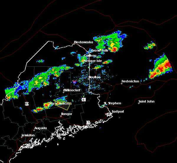 Radar Image for Severe Thunderstorms near Milo, ME at 7/10/2018 2:42 PM EDT