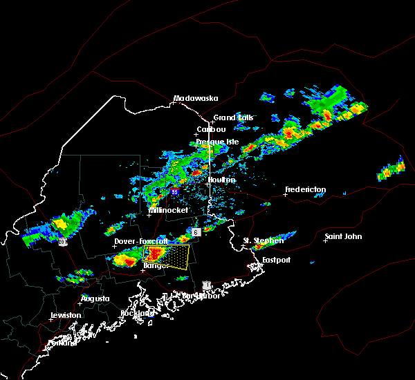 Radar Image for Severe Thunderstorms near Milford, ME at 7/10/2018 3:42 PM EDT
