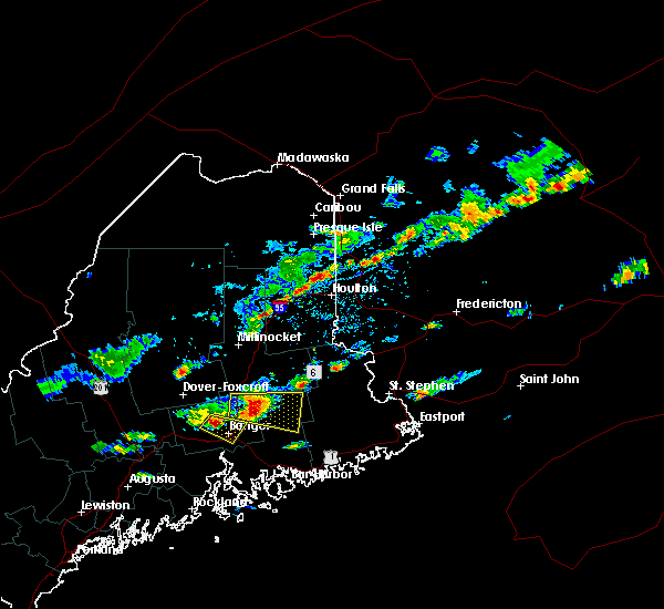 Radar Image for Severe Thunderstorms near Orono, ME at 7/10/2018 3:45 PM EDT