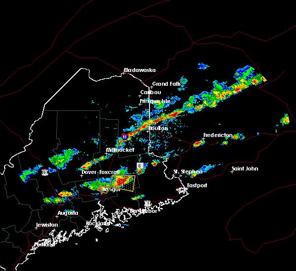 Radar Image for Severe Thunderstorms near Orono, ME at 7/10/2018 4:01 PM EDT
