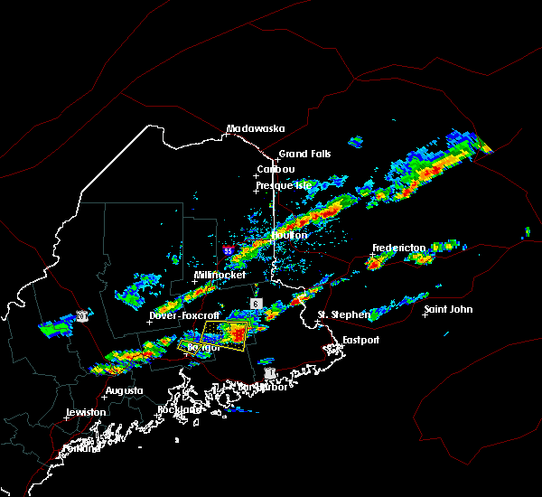 Radar Image for Severe Thunderstorms near Orono, ME at 7/10/2018 4:13 PM EDT