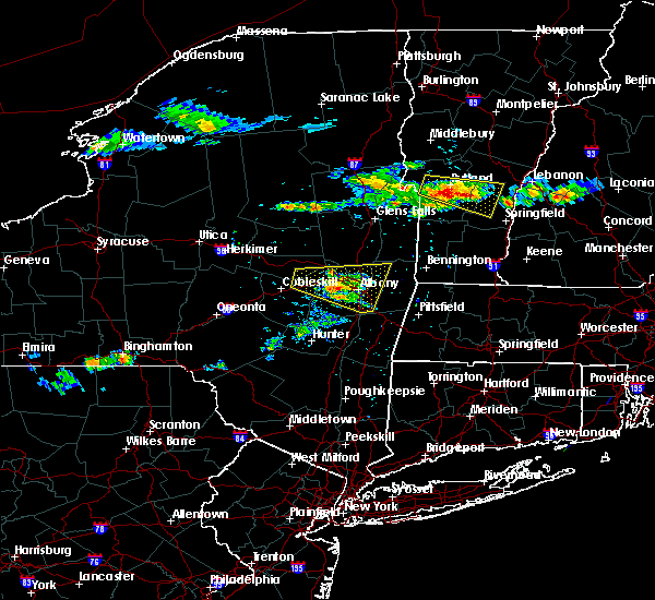 Radar Image for Severe Thunderstorms near Cohoes, NY at 7/10/2018 4:40 PM EDT