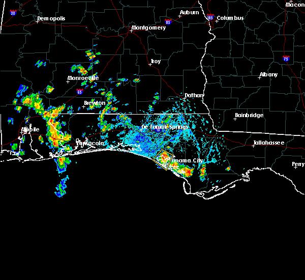 Radar Image for Severe Thunderstorms near Lynn Haven, FL at 7/10/2018 4:05 PM CDT